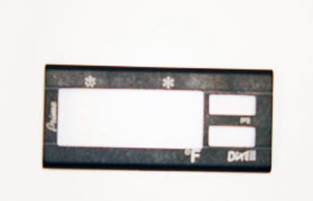 TEMP CONTROL FACE PLATE FOR TR SERIES