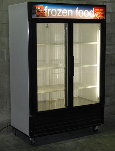 Used Two Glass Door Display Freezer