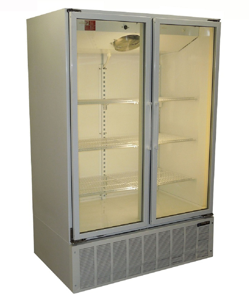 USED TWO GLASS DOOR COOLER