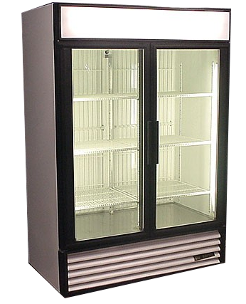 GDM-49F Commercial True Two Door Display Freezer with Glass Doors - Refurbished