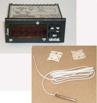 CONTROL, TEMP ELECTRONIC DIXEL XR10C-4P1F1, COMPLETE W/ PROBE