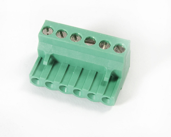 CONNECTOR, OMC1F06001 6 POLE GREEN, LAE