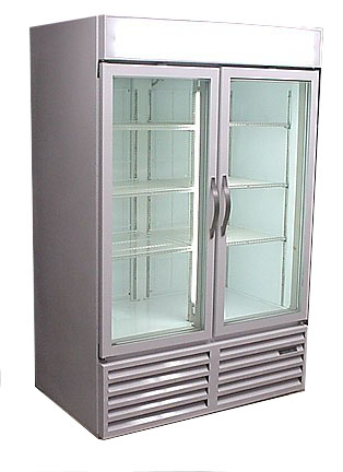 CFG-48 Commercial Beverage Air Two Door Display Freezer with Glass Doors - Refurbished