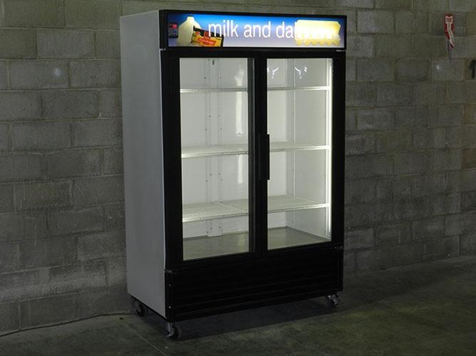 Used Two Glass Door Cooler Merchandiser